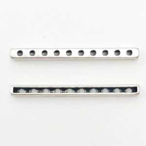 Link barra Anti Silver 39mm - LK0039 - Crystal Stones