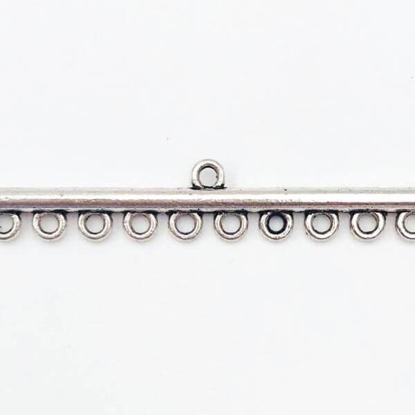 Link barra Anti Silver 46,4mm - LK0046 - Crystal Stones