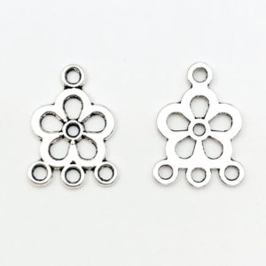 Link fiore Anti Silver 22x16mm - LK002216 - Crystal Stones