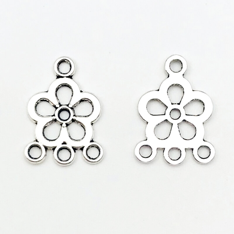 Link fiore Anti Silver 22x16mm – LK002216 – Crystal Stones