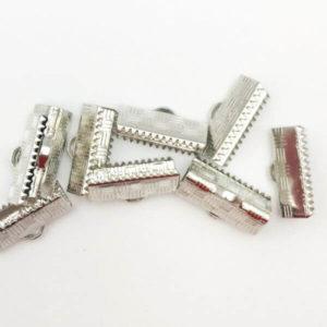 Terminale a barra Silver 16mm - TR0016 - Crystal Stones