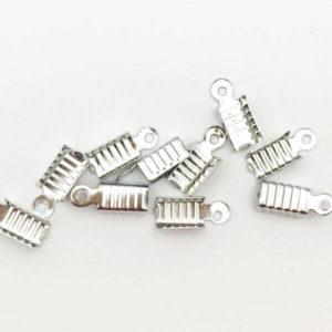 Terminale cordoncino Silver 12x4,5mm - TR00124 - Crystal Stones