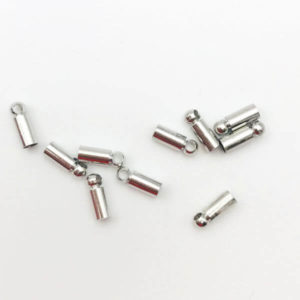 Terminale per cordoncino Silver 6x2,5mm - TR0072 - Crystal Stones
