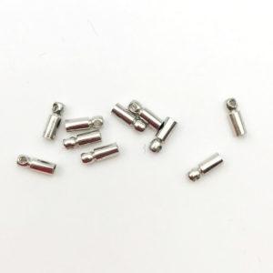 Terminale per cordoncino Silver 6x2mm - TR0062 - Crystal Stones