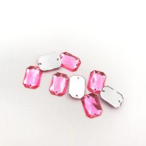 3024-1014-106 2 Ottagono piatto acrilico Rose 10x14mm