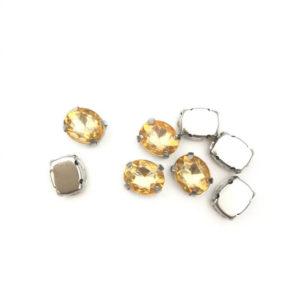 5020-108-131 2 Ovale incastonato acrilico Anti SilverTopaz 108mm