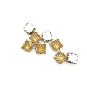 5041-8-131 2 Quadrato incastonato acrilico Anti SilverTopaz Opal 8x8mm
