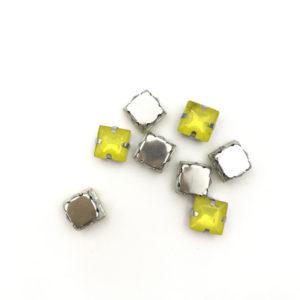 5041-8-135 2 Quadrato incastonato acrilico Anti SilverCitrine Opal 88mm