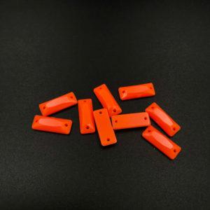 b24-615-f33 2 Baguette piatta acrilico Arancione Fluo 6x15mm