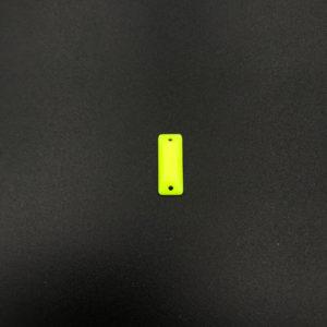 b24-615-f35 2 Baguette piatta acrilico Giallo Fluo 6x15mm