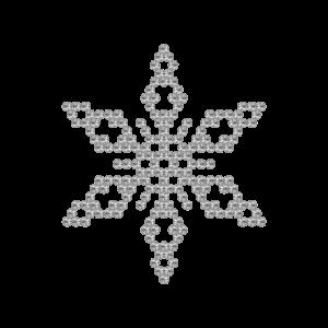 Motivo Fiocco di Neve Termoadesivo Hotfix FN02 - Vari colori - In Cristallo - Crystal 101 - Xilion 2038 - Crystal Stones