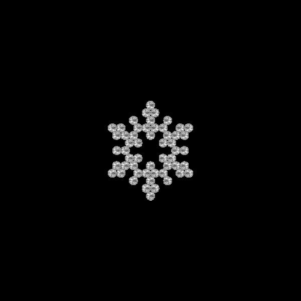 Motivo Fiocco di Neve Termoadesivo Hotfix FN11 - Vari colori - In Cristallo - Crystal 101 - Xilion 2038 - Crystal Stones