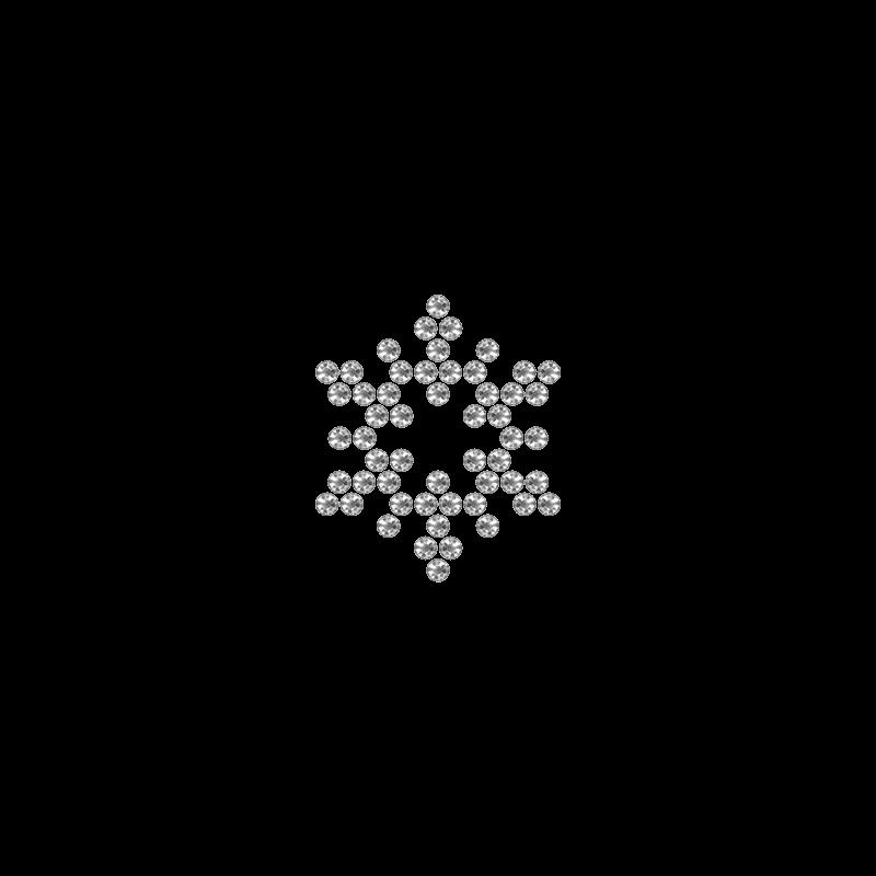 Motivo Fiocco di Neve Termoadesivo Hotfix FN11 – Vari colori – In Cristallo – Crystal 101 –  Xilion 2038 – Crystal Stones