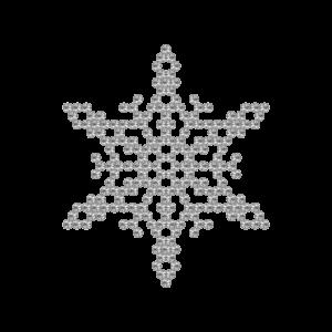 Motivo Fiocco di Neve Termoadesivo Hotfix FN03 - Vari colori - In Cristallo - Crystal 101 - Xilion 2038 - Crystal Stones