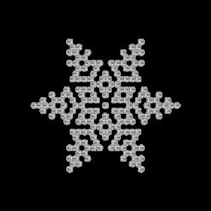 Motivo Fiocco di Neve Termoadesivo Hotfix FN04 - Vari colori - In Cristallo - Crystal 101 - Xilion 2038 - Crystal Stones