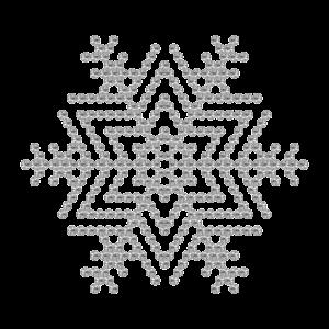 Motivo Fiocco di Neve Termoadesivo Hotfix - Vari colori - In Cristallo - Crystal 101 - Xilion 2038 - Crystal Stones