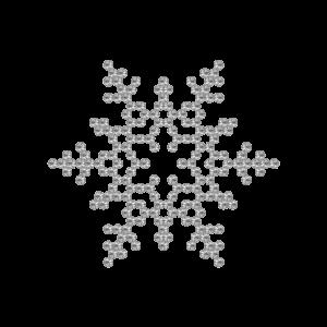 Motivo Fiocco di Neve Termoadesivo Hotfix FN05 - Vari colori - In Cristallo - Crystal 101 - Xilion 2038 - Crystal Stones