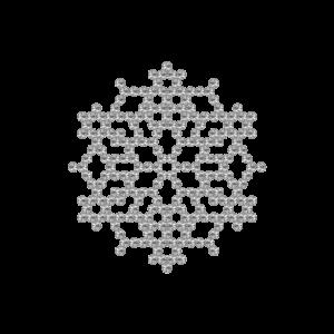 Motivo Fiocco di Neve Termoadesivo Hotfix FN06 - Vari colori - In Cristallo - Crystal 101 - Xilion 2038 - Crystal Stones