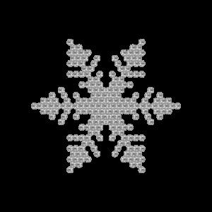 Motivo Fiocco di Neve Termoadesivo Hotfix FN07 - Vari colori - In Cristallo - Crystal 101 - Xilion 2038 - Crystal Stones