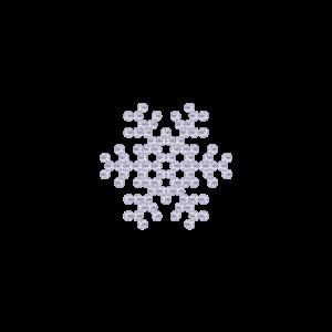 Motivo Fiocco di Neve Termoadesivo Hotfix FN11 - Vari colori - In Cristallo - White Opal 128 - Xilion 2038 - Crystal Stones