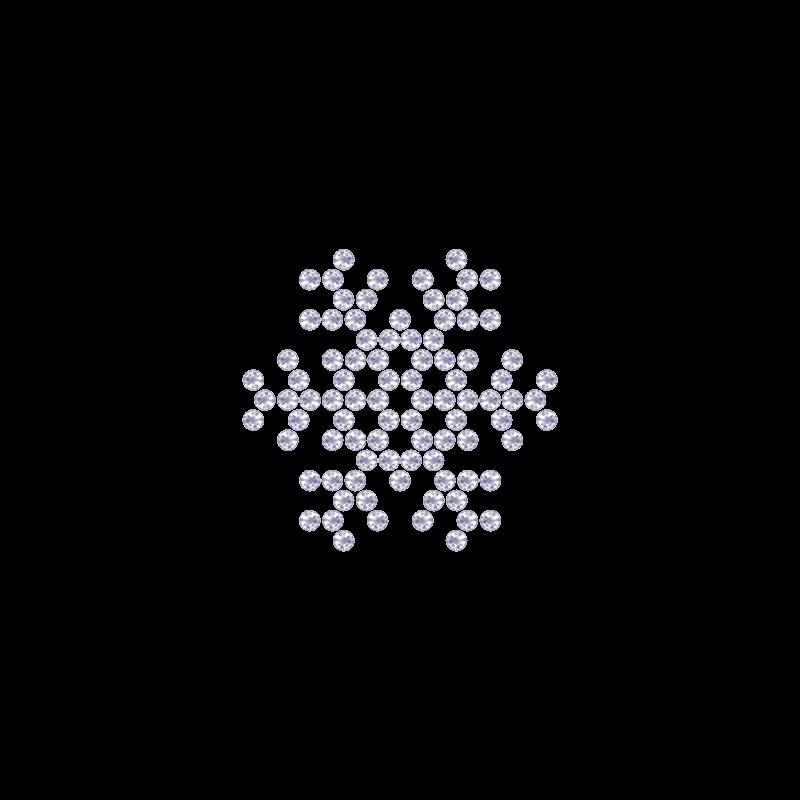 Motivo Fiocco di Neve Termoadesivo Hotfix FN11 – Vari colori – In Cristallo – White Opal 128 –  Xilion 2038 – Crystal Stones