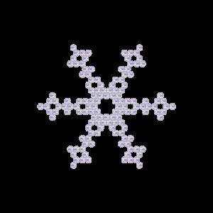 Motivo Fiocco di Neve Termoadesivo Hotfix FN08 - Vari colori - In Cristallo - White Opal 128 - Xilion 2038 - Crystal Stones