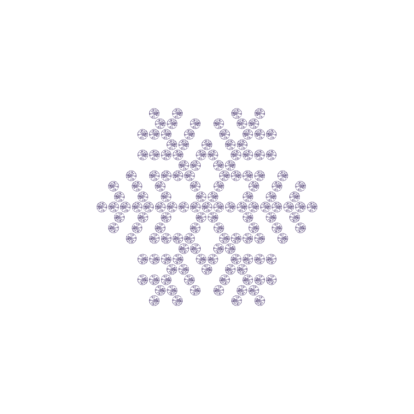 Motivo Fiocco di Neve Termoadesivo Hotfix FN09 - Vari colori - In Cristallo - White Opal 128 - Xilion 2038 - Crystal Stones