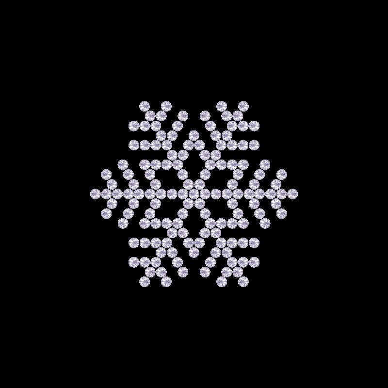 Motivo Fiocco di Neve Termoadesivo Hotfix FN09 – Vari colori – In Cristallo – White Opal 128 –  Xilion 2038 – Crystal Stones
