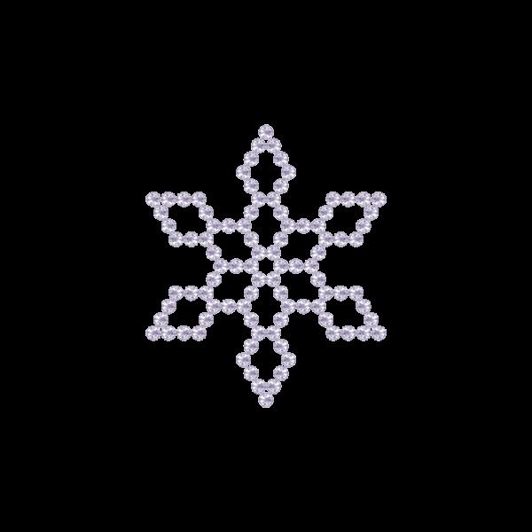 Motivo Fiocco di Neve Termoadesivo Hotfix FN10 - Vari colori - In Cristallo - White Opal 128 - Xilion 2038 - Crystal Stones