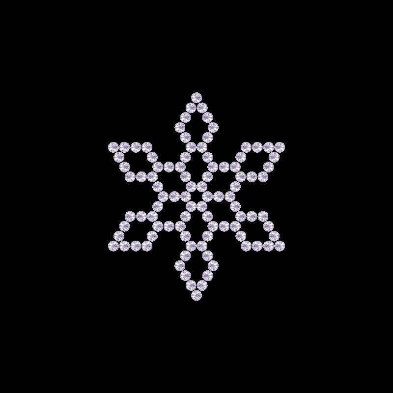 Motivo Fiocco di Neve Termoadesivo Hotfix FN10 – Vari colori – In Cristallo – White Opal 128 –  Xilion 2038 – Crystal Stones