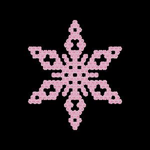 Motivo Fiocco di Neve Termoadesivo Hotfix FN02 - Vari colori - In Cristallo - Rose Opal 135 - Xilion 2038 - Crystal Stones