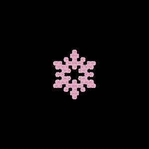 Motivo Fiocco di Neve Termoadesivo Hotfix FN11 - Vari colori - In Cristallo - Rose Opal 135 - Xilion 2038 - Crystal Stones