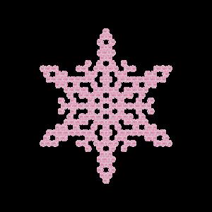 Motivo Fiocco di Neve Termoadesivo Hotfix FN03 - Vari colori - In Cristallo - Rose Opal 135 - Xilion 2038 - Crystal Stones