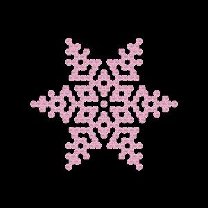 Motivo Fiocco di Neve Termoadesivo Hotfix FN04 - Vari colori - In Cristallo - Rose Opal 135 - Xilion 2038 - Crystal Stones