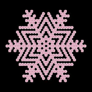 Motivo Fiocco di Neve Termoadesivo Hotfix - Vari colori - In Cristallo - Rose Opal 135 - Xilion 2038 - Crystal Stones