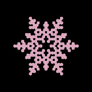 Motivo Fiocco di Neve Termoadesivo Hotfix FN05 - Vari colori - In Cristallo - Rose Opal 135 - Xilion 2038 - Crystal Stones