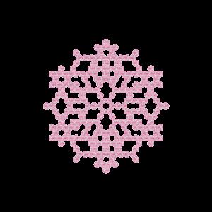 Motivo Fiocco di Neve Termoadesivo Hotfix FN06 - Vari colori - In Cristallo - Rose Opal 135 - Xilion 2038 - Crystal Stones