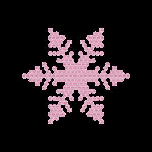Motivo Fiocco di Neve Termoadesivo Hotfix FN07 - Vari colori - In Cristallo - Rose Opal 135 - Xilion 2038 - Crystal Stones