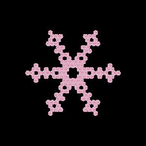 Motivo Fiocco di Neve Termoadesivo Hotfix FN08 - Vari colori - In Cristallo - Rose Opal 135 - Xilion 2038 - Crystal Stones