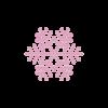 Motivo Fiocco di Neve Termoadesivo Hotfix FN09 - Vari colori - In Cristallo - Rose Opal 135 - Xilion 2038 - Crystal Stones