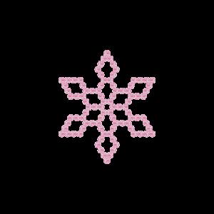 Motivo Fiocco di Neve Termoadesivo Hotfix FN10 - Vari colori - In Cristallo - Rose Opal 135 - Xilion 2038 - Crystal Stones