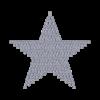 Motivo Stella Termoadesivo Hotfix ST01 - In Cristallo - Trasparente - Xilion 2038 - Crystal Stones
