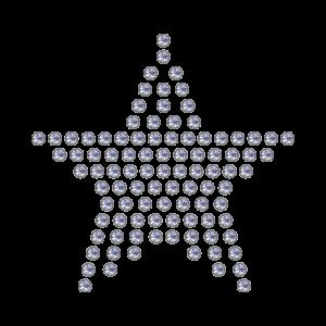 Motivo Stella Termoadesivo Hotfix ST02 - In Cristallo - Trasparente - Xilion 2038 - Crystal Stones